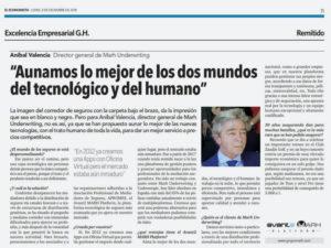 """Artículo """"El Economista"""" con Aníbal Valencia"""